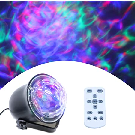 ECOWHO Christmas Laser Light Projector Outdoor 10 Colors Changing 2 in 1 Galaxy Projector Lights Outdoor Ocean Wave LED Night Light Projector with Remote RGBW Waterproof Landscape Lights for Bedroom
