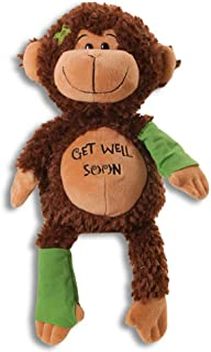 15 Plush GET WELL SOON MONKEY w/Cast for Autograph - Speedy Recovery GIFT for Hospitalized CHILD Adult - KEEPSAKE - CHIMP Ape