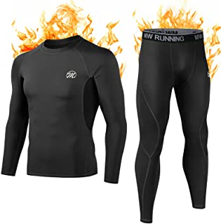 MEETWEE Men's Thermal Underwear Set, Winter Long Sleeve Base Layer Quick Dry Long Johns Compression Suit for Workout Skiin...