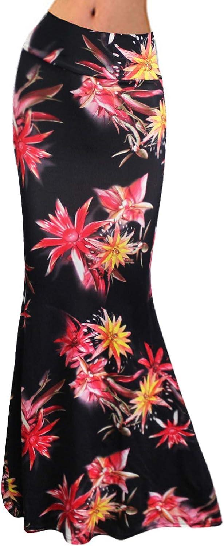 Women's Casual Mermaid Maxi Skirt Holiday Geometric Stripe Fishtail Long Skirt Beach Dress