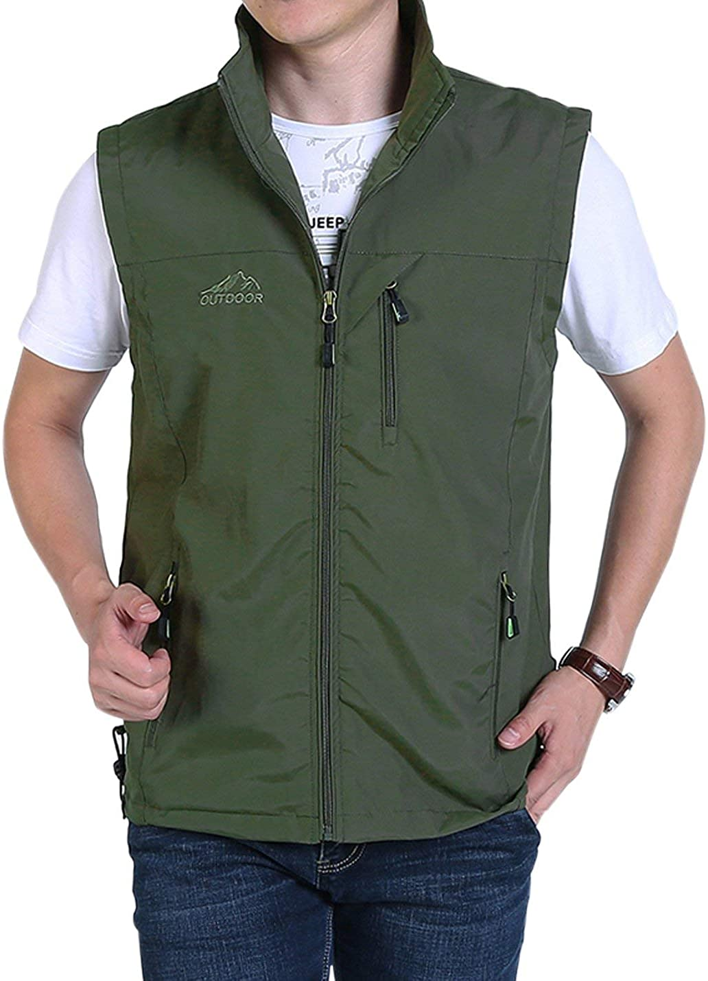 Gihuo Men's Golf Lightweight Photo Ve Safari Vest sold out Animer and price revision Travel Fishing