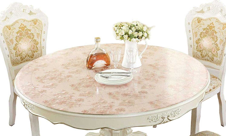 かまどシュートラフIYHUO PVC製 テーブルクロス 円形 テーブルマット デスクマット テーブルカバー 防水 汚れ防止 ピンク