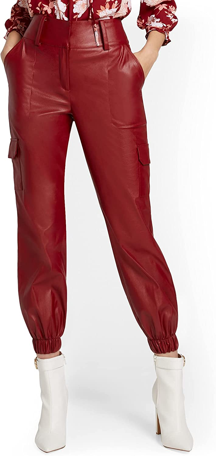 New York Co. Women's Jogger Pant 67% OFF of fixed price Utility Popular Faux-Leather