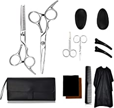 Hair Cutting Scissors Set Hairdressing Tool with Exquisite Haircut Package for Barber Salon Home 12 Pack