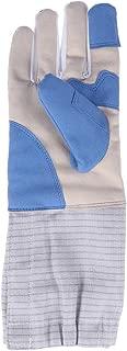 Guante de esgrima de 1 pz. Espesar Competencia de esgrima Profesional Entrenamiento Guantes Deportivos Mitones - M (Azul) Guante