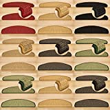 Kettelservice-Metzker® Stufenmatten Sisal New Halbrund in versch. Farben und Set Varianten Rot 15 Stück