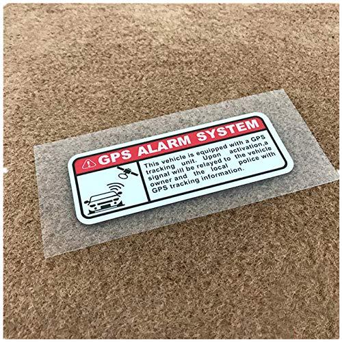 SHUNHUI Alarma GPS Seguimiento Y Posicionamiento De Seguridad Etiqueta Engomada del Coche Etiqueta De Advertencia del Cuerpo 10x5 Cm (2 Hojas)