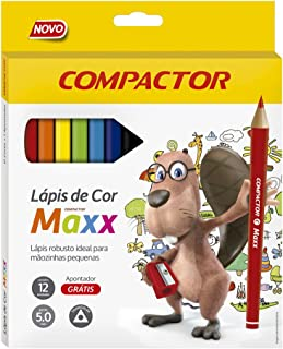 Lápis de Cor Triangular Maxx 12 cores - Compactor