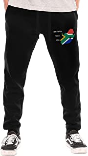 I Bless The Rains Down in Africa Mens Drawstring Waist Gym Active Pant with Pocket
