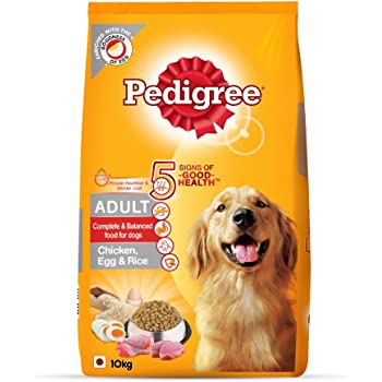 Pedigree Adult Dry Dog Food (High Protein Variant) Chicken, Egg & Rice, 10kg Pack