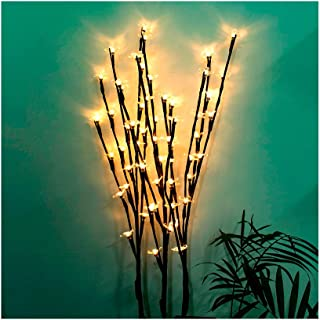 Mostbest Branch Lights - Solar Lights Branches Decorative Lights Tree Shape Lighted Branch for Home Decoration Waterproof Dancing Flame Outdoor Lighting