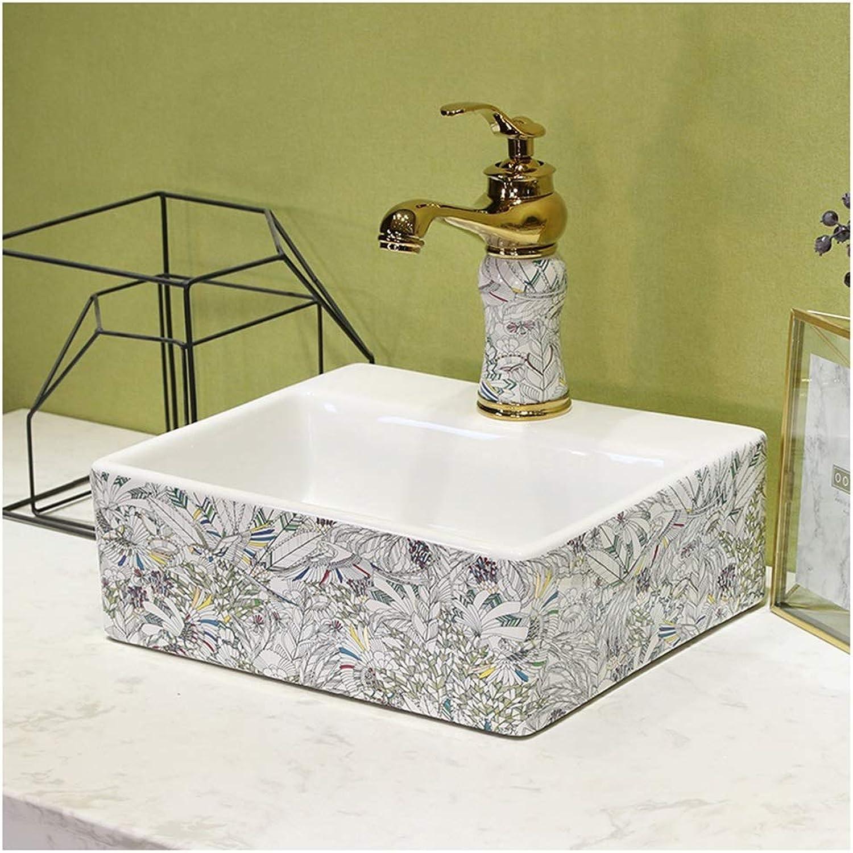 BATHYJ Waschbecken, Keramik, hochwertige Mbel Waschbecken über Waschbecken (Farbe   C, gre   Only a washbasin)