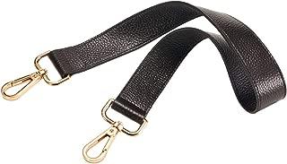 25 inch Leather Strap for Handbags Shoulder Bag Gold Tone Buckles