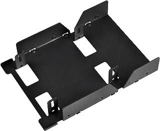 SilverStone Technology 3.5-Inch to 3 X 2.5-Inch Internal Hard Drive HDD/SSD Bay Converter, Black SDP08B-E