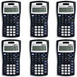 Texas Instruments TI-30X IIS 2-Line Scientific Calculator, Black with Blue Accents, 6 Pack