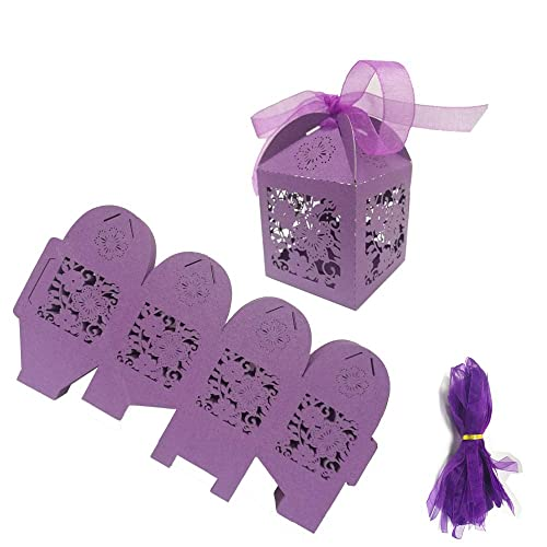 30 PURPLE PARTY FAVOR TREAT BOXES BAG GREAT FOR BIRTHDAYS WEDDING  BABY SHOWER