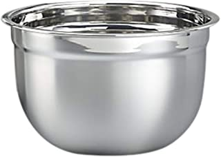 RAJ Steel German Mixing Bowl, Silver, 35 cm, SGMB35