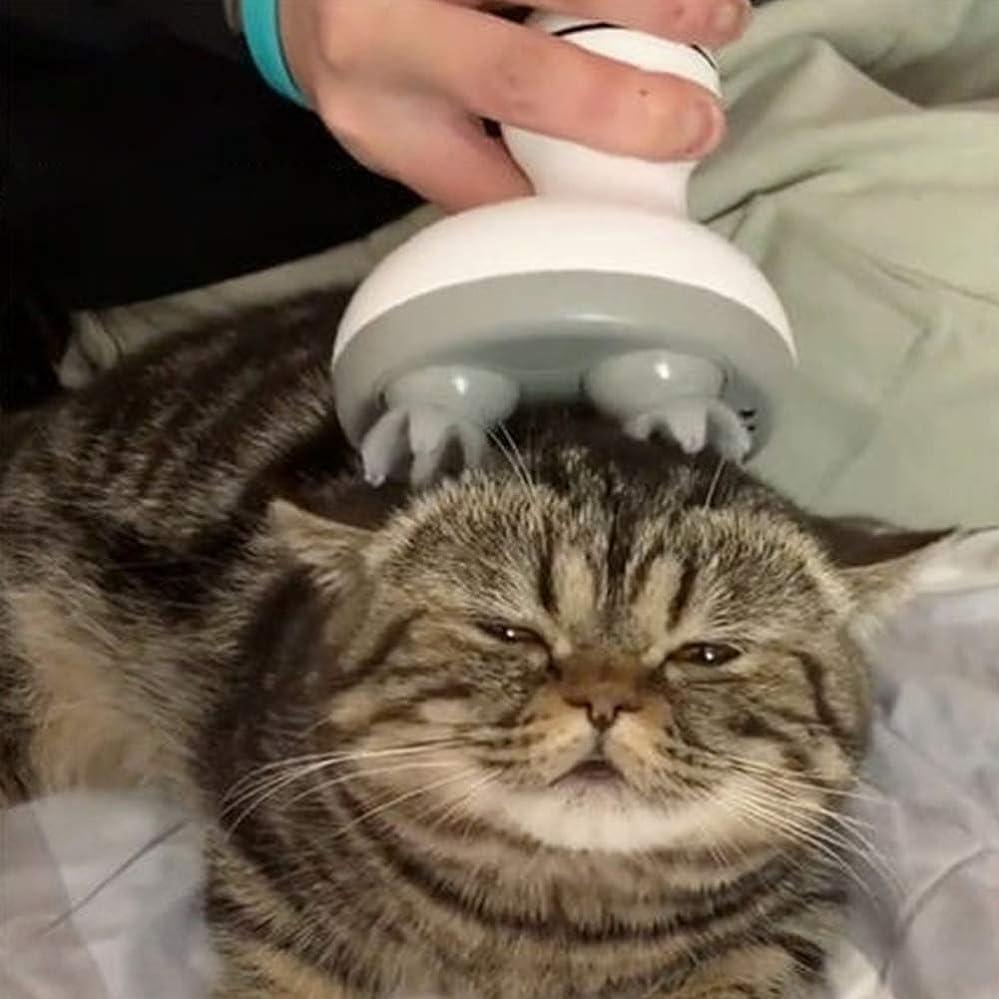 束ねるネイティブ絞るACHICOO ペットマッサージ ヘッド 多機能 電気 足形状 猫