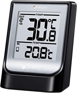 Oregon Scientific EMR211 Weather@Home Wireless Indoor/Outdoor Thermometer with Bluetooth connectivity, Black