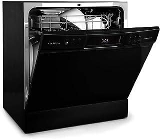 Klarstein Amazonia - Lavavajillas, Máquina lavaplatos, 8 programas: intensivo, normal, ECO, vidrio, 90 minutos, rápido, fr...