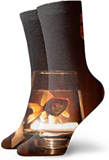Calcetines Men & Women Athletic Kittens Socks abstract Wicking Casual Socks Wardrobe Books3
