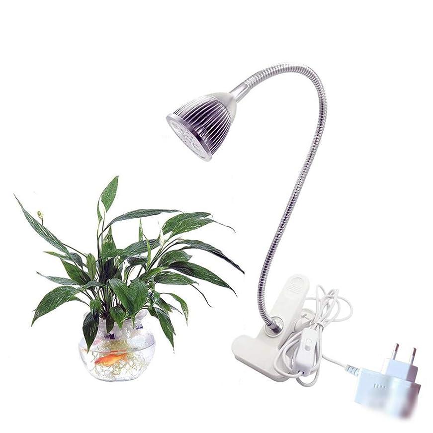 スイス人オリエント鳴らすDOUGHNUT 5Wled植物ライト360度ホースフラワーフィルライト植物成長ランプランプ用寝室暖かい光 (色 : As picture)