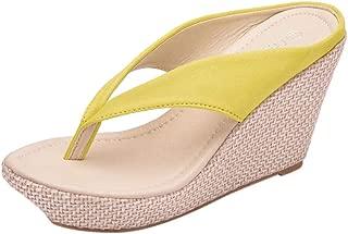 Dainzuy Women's Shoes Heels Pumps Hollow Out Wear Outside Slippers Fashionable Casual Versatile Wedges Flip Flops