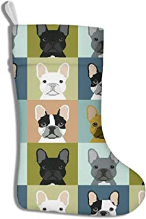 French Bulldog Illustration Funny Christmas Stockings Personalized Christmas Decorations and Party Accessory