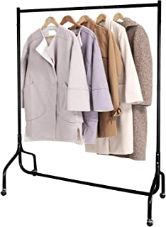 EZVOV Clothes Rack on Wheels, Heavy Duty Clothing Rack Commercial Grade Metal Garment Rolling Rack for Hanging Clothes