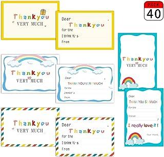 Kumy - Tarjetas de agradecimiento con sobres, juego de 40