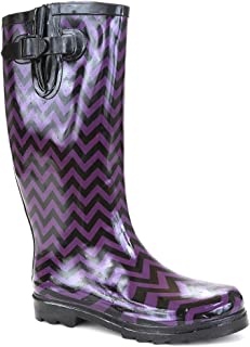 Twisted Womens Drizzy Tall Cute Rubber Rain Boots