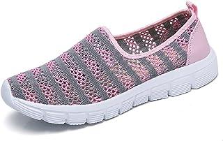 f4a155b1e35 Zapatos para Corror Mujer Zapatillas de Deportiva Slip on Huecos Sneakers para  Caminar Walking Calzado Malla