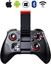 SEMSA Bluetooth Wireless Video Game Controller - Gamepad Gaming Joystick with Holder Remote Control for Android iOS iPhone, Mobile Phone, OS, Samsung Gear VR, Tablet, PC, TV Box, Laptop, Steam Games