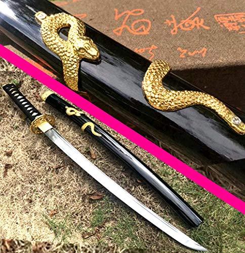 VARWANEO Nice Snake Saya Japanese Wakizashi Dao Sword Samurai Katana Sharp 1095 High Carbon Steel Handmade Battle Knife Saber