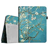 Fintie Folio Case for Original iPad 1st Generation - Slim Fit Vegan Leather Stand Cover with Stylus Holder for iPad 1st Generation 2010 (Blossom)