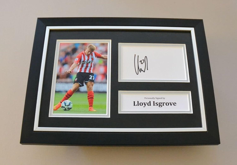 Lloyd Isgrove Signed A4 Photo Framed Autograph Display Southampton Memorabilia