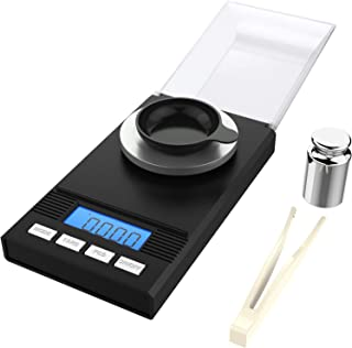 homgeek Multi function high precision mini digital scale,Digital Kitchen Scale with LED display Milligram Scale 50 x 0.001g