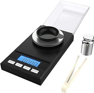 homgeek Mini Balance de Cuisine Electronique Balance de Précision 0,001g / 50g,Écran LCD, Balance de Bijoux avec Pince à E...