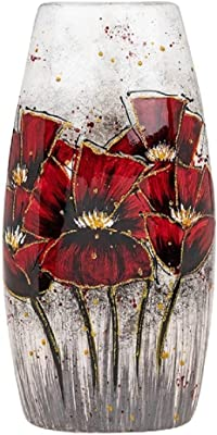 Shudehill Bright Blooms 290854 - Jarrón Plano, Color Rojo