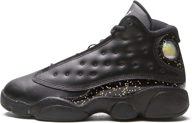 Jordan Kid's Shoes Nike Air Retro 13 (PS) Gold Glitter DC9444-007 (M