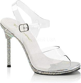 95fb3f8f5728 Fabulicious Womens CHIC-08DM C SMRS Sandal (8) Clear Silver