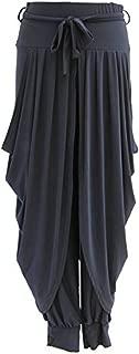 Sevello Clothing Womens Lagenlook Dhoti Tie Drape Pleated Harem Ali Baba Trouser Pants