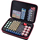 Battery Organizer Holder, 200+ Batteries Storage Containers Box Case with Tester Checker BT-168. Garage Gadget Organization Holds AA AAA C D Cell 9V 3V Lithium LR44 CR2 CR1632 CR2032 Button Batteries