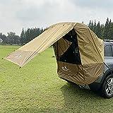 Carpa para EI Sol para Automóvil, Toldo para Automóvil Refugio para EI Sol con Ventana de Gasa Protección Solar Camper Carpa para Puerta Trasera para Automóvil para SUV Conducción Camping (Marrón)
