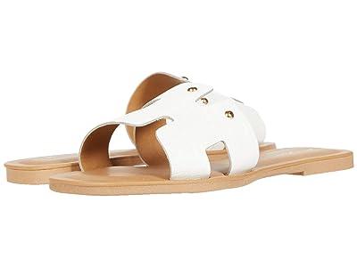 Massimo Matteo Leather Slide (White) Women