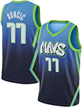 Men Adults for Luka Doncic Dallas Mavericks Basketball Jersey Sets Competition Uniforms Summer Vest Shirt Shorts Two-Piece Set Gifts for Fans