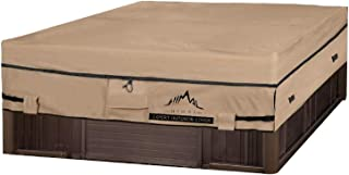 Himal Square Hot Tub Cover - Heavy Duty 600D Polyester Waterproof,UV Protection SPA Cover for Hot Tub,85 x 85 inch