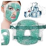 xiaogui Antifaz de Gel para Los Ojos,Máscara de Facial de Gel Máscara Ojo Hielo Cuentas Fría,máscara Facial,Enfriamiento Calmante Frío Caliente Paquete de Mascarillas para Dormir (a)