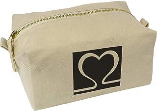 'Heart Symbol' Canvas Wash Bag / Makeup Case (CS00019627)