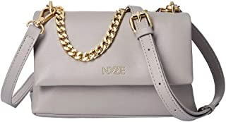 NYZE Damen Tote Chain Bag - 100% Vegane Umhängetasche mit Kette